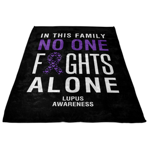 Custom Designed Lupus Awareness Blanket