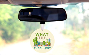 What The Fucculent Car Ornament