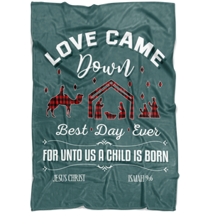 Love Came Down Christmas Blanket