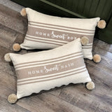 Home Sweet Nash Lumbar Pom Pillow