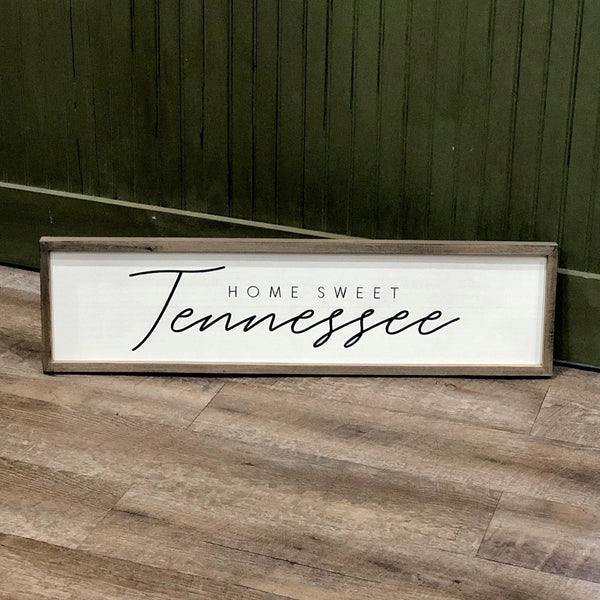 Home Sweet Tennessee Wood Framed Sign