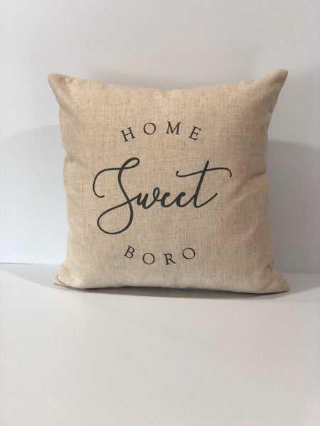 Home Sweet Boro Square Pillow