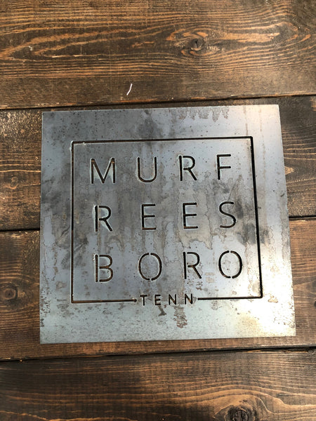 Murfreesboro Square Metal Sign