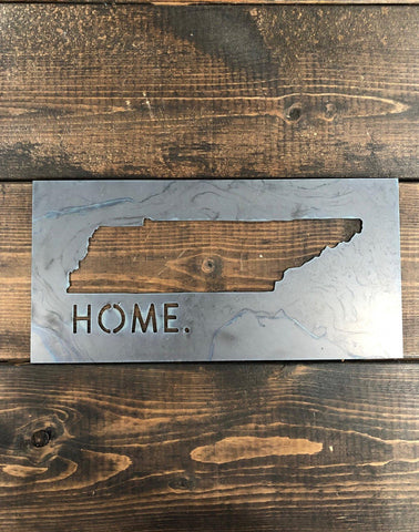 Tennessee Home Metal Sign