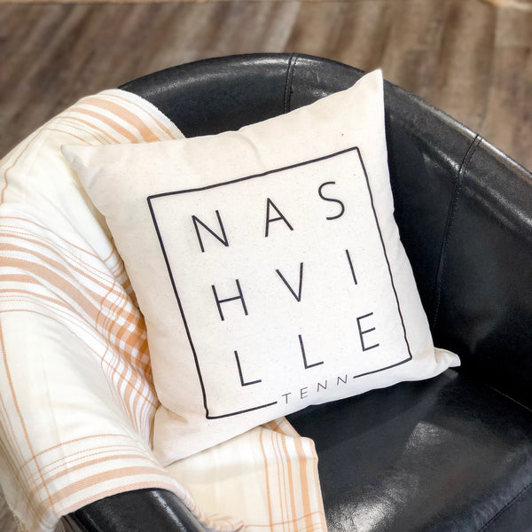 Nashville Square Canvas Pillow