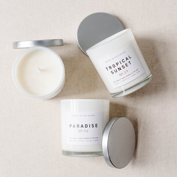 Paradise Soy Candle | White Jar Candle