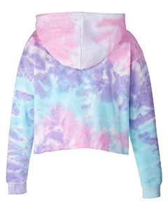 TN Tie Dye Cropped Hoodie [Cotton Candy]