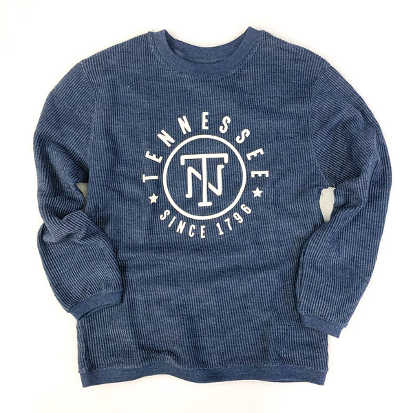TN Corded Crew Pullover [Navy]