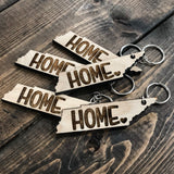 Tennessee Home Wood Keychain