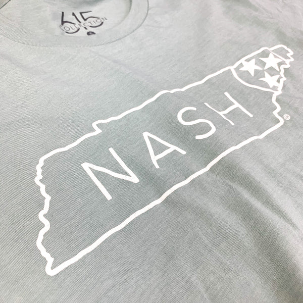 Nash TriStar Crew Neck Tee [Dusty Blue]