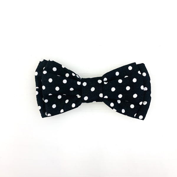 Pet Bow Tie - Black Polka Dot
