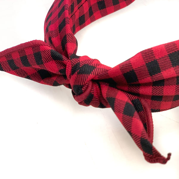 Olivia Headband [Red Gingham]