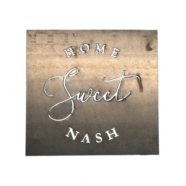 Home Sweet Nashville Metal Sign