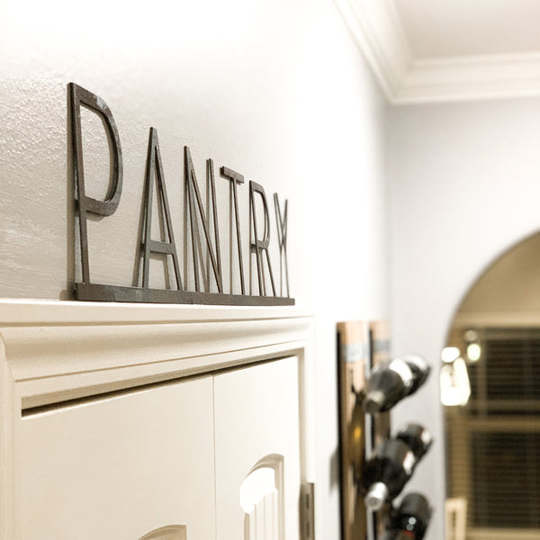 Pantry Room ID - Metal Sign