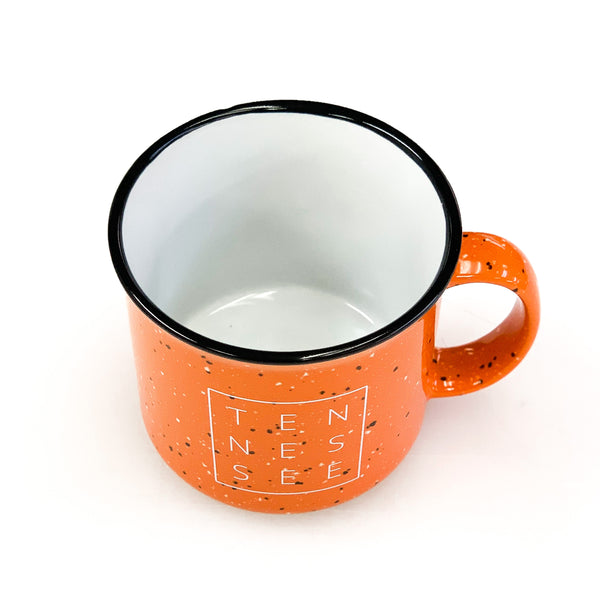 Orange Tennessee Square© Campfire Mug
