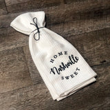 Home Sweet Nashville Tea Towel [White]