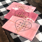 Natural Avocado Dyed Kitchen Towel [Pink]