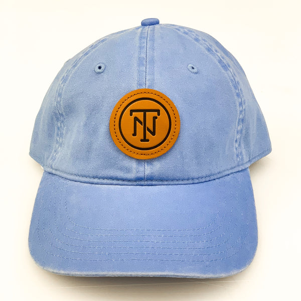 Columbia Blue TN Leather Patch Pigment Dyed Cap