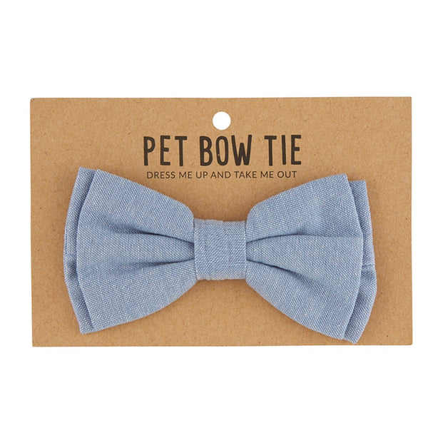 Pet Bow Tie - Chambray
