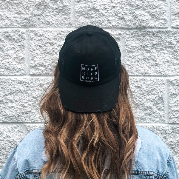 Distressed Murfreesboro Square© Hat [Black]