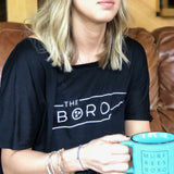 Slouchy Boro Tristar Top [Black]