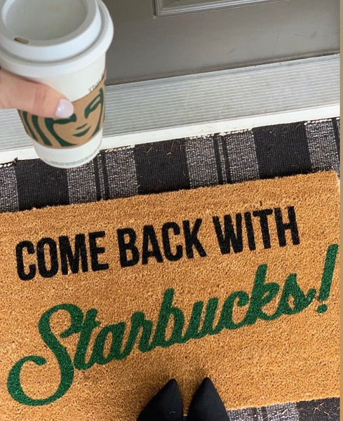 Alex's Starbucks Doormat
