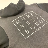 Full-Zip Fleece Hoodie - Murfreesboro [Dark Heather/Black]
