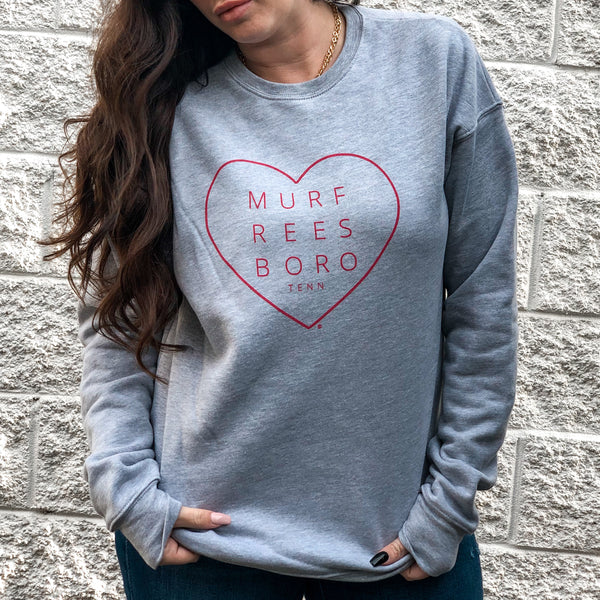 Sweet On You Heart Pullover [Grey]