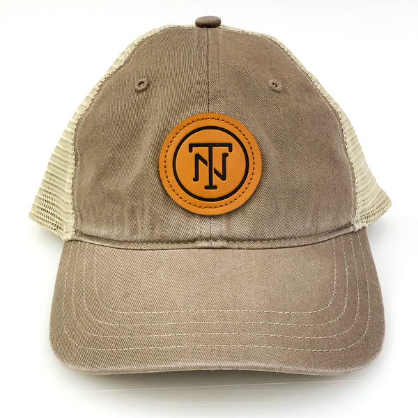 TN Leather Patch Mesh Snapback [Driftwood]