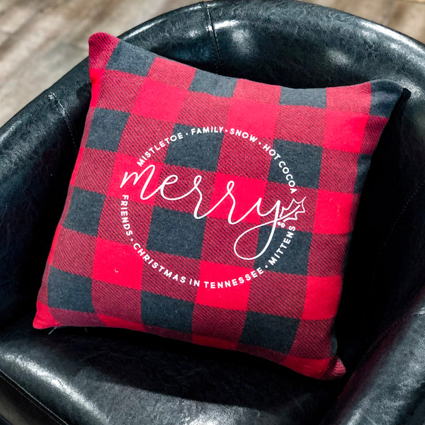 Christmas in Tennessee Pillow [Red]