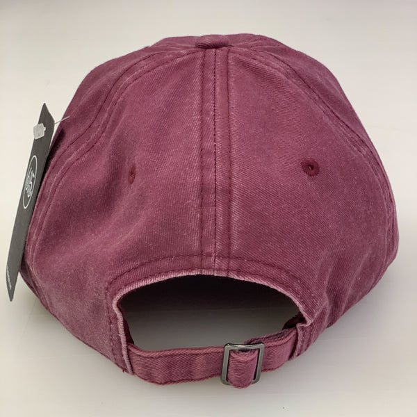 Maroon TN Leather Patch Pigment Dyed Cap