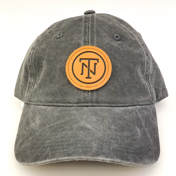 TN Leather Patch Pigment Dyed Cap [Charcoal]