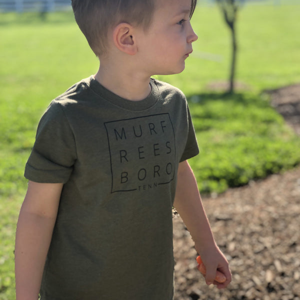 Original Murfreesboro Square© Toddler Tee [Olive]