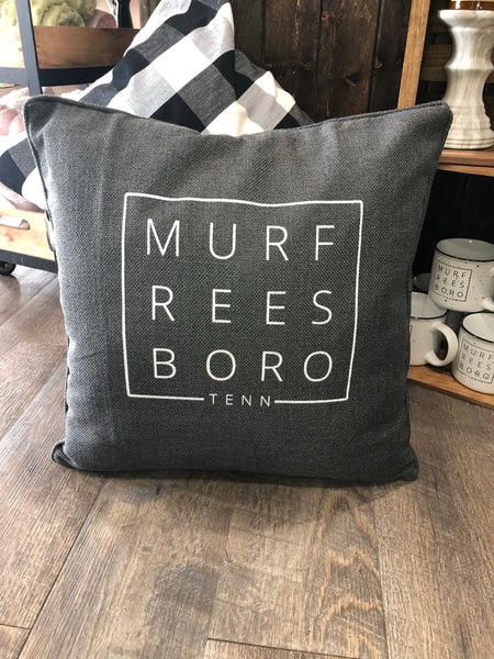 Murfreesboro Square Solid Throw Pillow