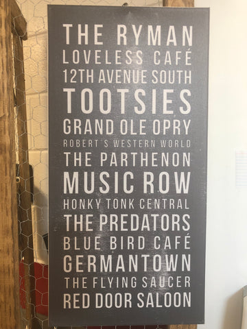 Nashville Favorites Canvas