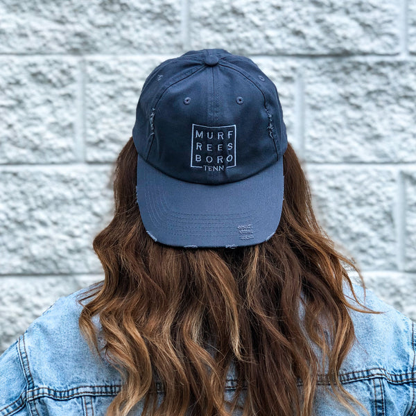 Distressed Murfreesboro Square© Hat [Scotland Blue]