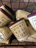 Burlap Boro Square© Koozie [Red Plaid]
