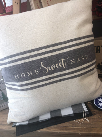 Home Sweet Nash Square Pillow
