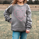 Sweet On You Youth Heart Pullover [Dark Heather]