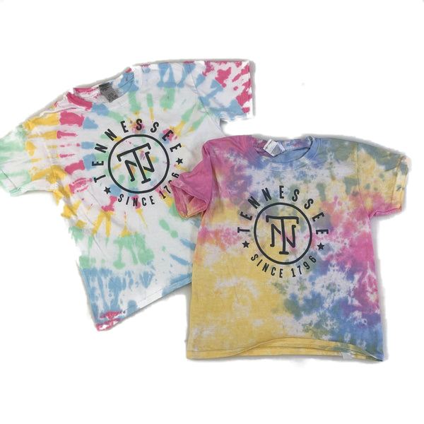 Tennessee Tie Dye Youth Tee