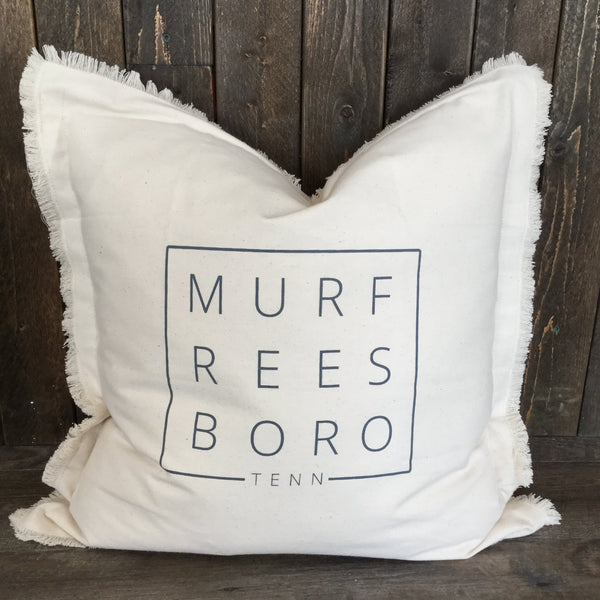 Murfreesboro Square Fringe Throw Pillow