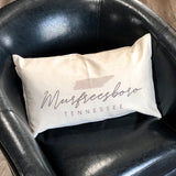 Murfreesboro Tennessee Pillow