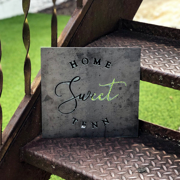 Home Sweet Tenn Metal Sign