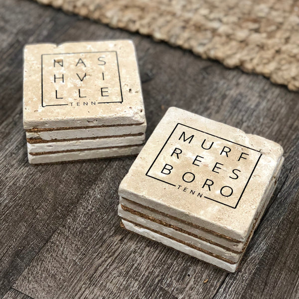 Travertine Coaster Singles