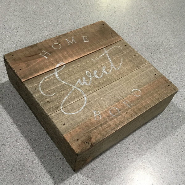 Sweet Boro Small Wooden Sign