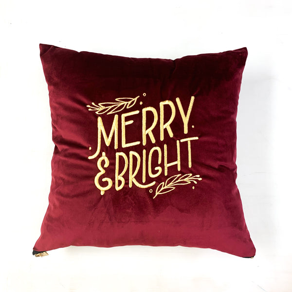 Merry and Bright Pillow [Merlot]