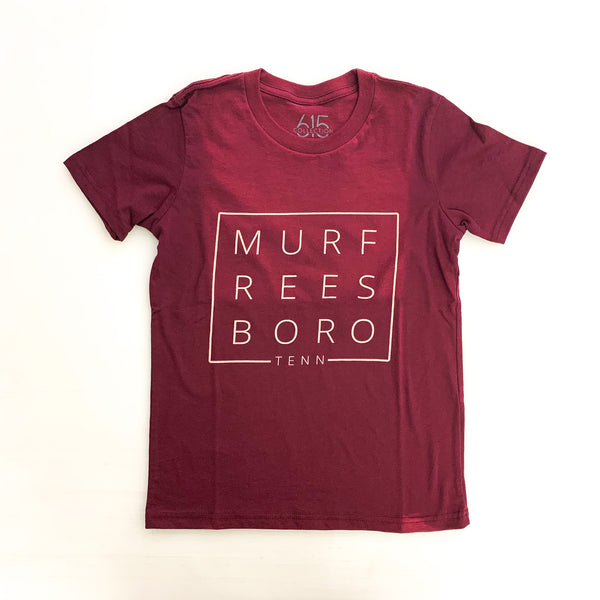 Murfreesboro Square© Youth Tee [Maroon]