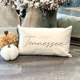 Tennessee Est. 1796 Pillow