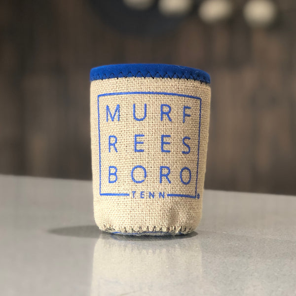 Burlap Boro Square© Koozie [True Royal]