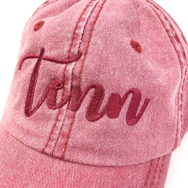Pigmented Dyed Tenn Hat [Cardinal]